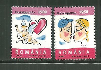 ROMANIA 4345-46 MNH VALENTINES DAY 2000