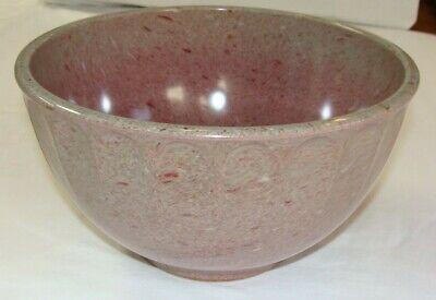 Vintage Boonton Melmac Melamine Gray Raspberry Splatter 4 QT. MIXING BOWL