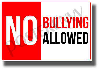 No Bullying ALLOWED - NEW Classroom Motivational Behavior POSTER (cm1306)