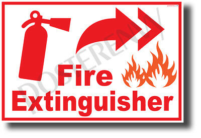 Fire Extinguisher Right - NEW Laboratory or Classroom Fire Safety POSTER (he084) for sale  Shipping to Canada