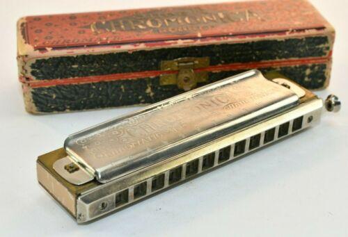 Vintage Hohner The Super Chromonica Harmonica Key C in Original Box