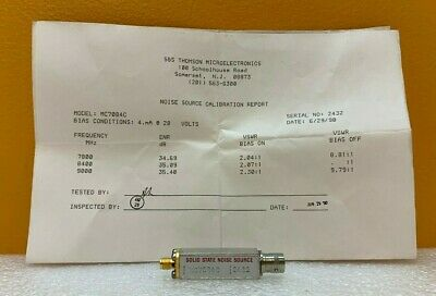 Microwave Semiconductor Corp Msc Mc7084c 7800 To 9000 Mhz Noise Source. New