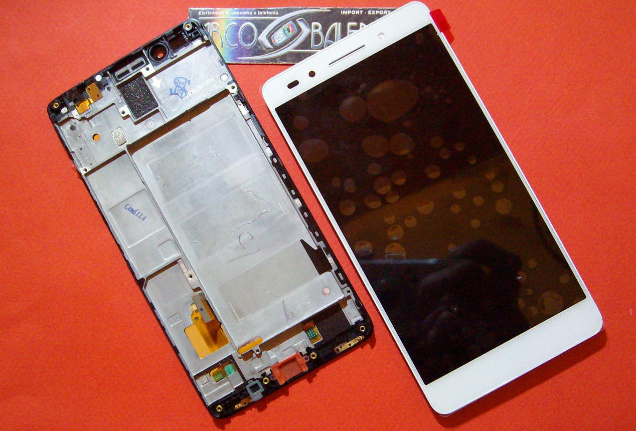 DISPLAY LCD TOUCH SCREEN FRAME TELAIO HUAWEI HONOR 7 BIANCO COVER PLK-L01 VETRO
