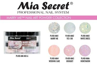 NEW! Mia Secret Nail Art Acrylic Professional Powder 6 Colors Set - Marry Me