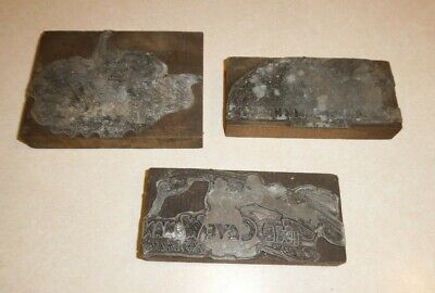 3 Antique Wood Letterpress Printing Blocks Bookstory Titles 2