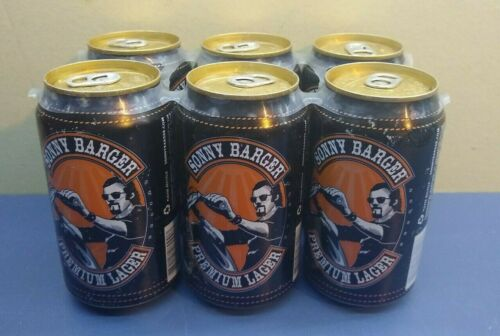 6 Pack of Hells Angels Sonny Barger Premium Lager Beer Cans - Empty