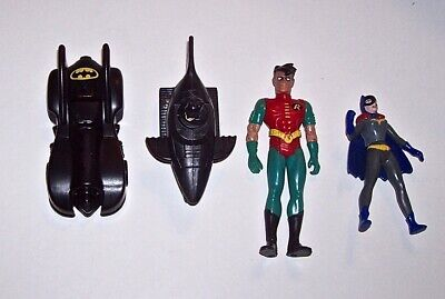 Batman Toy Lot of 4 - ROBIN, BAT GIRL, BATMAN IN BATMOBILE, BATMOBILE 1991-1993](Batman And Robin Girls)