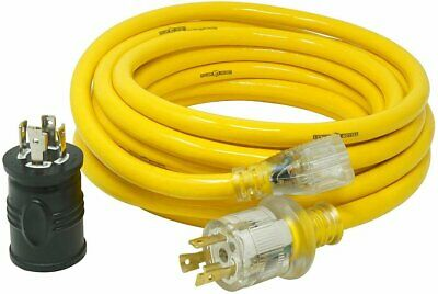 Yellow Jacket 25 Ft. 103 15a Generator Cord With Bonus Adapter