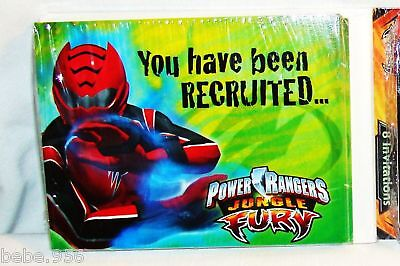 NEW ~POWER RANGERS~ FURY  8 INVITATIONS  PARTY SUPPLIES ()