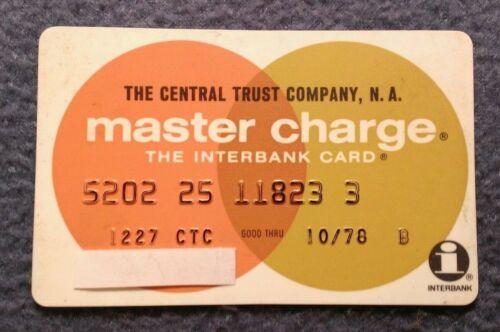 Vintage Master Charge exp. 1978 Central Trust Co, Cincinnati