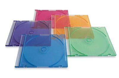 Best Verbatim 50-ct Slim Dvd Storage Cases Plastic Jewel Cd Case Assorted Colors