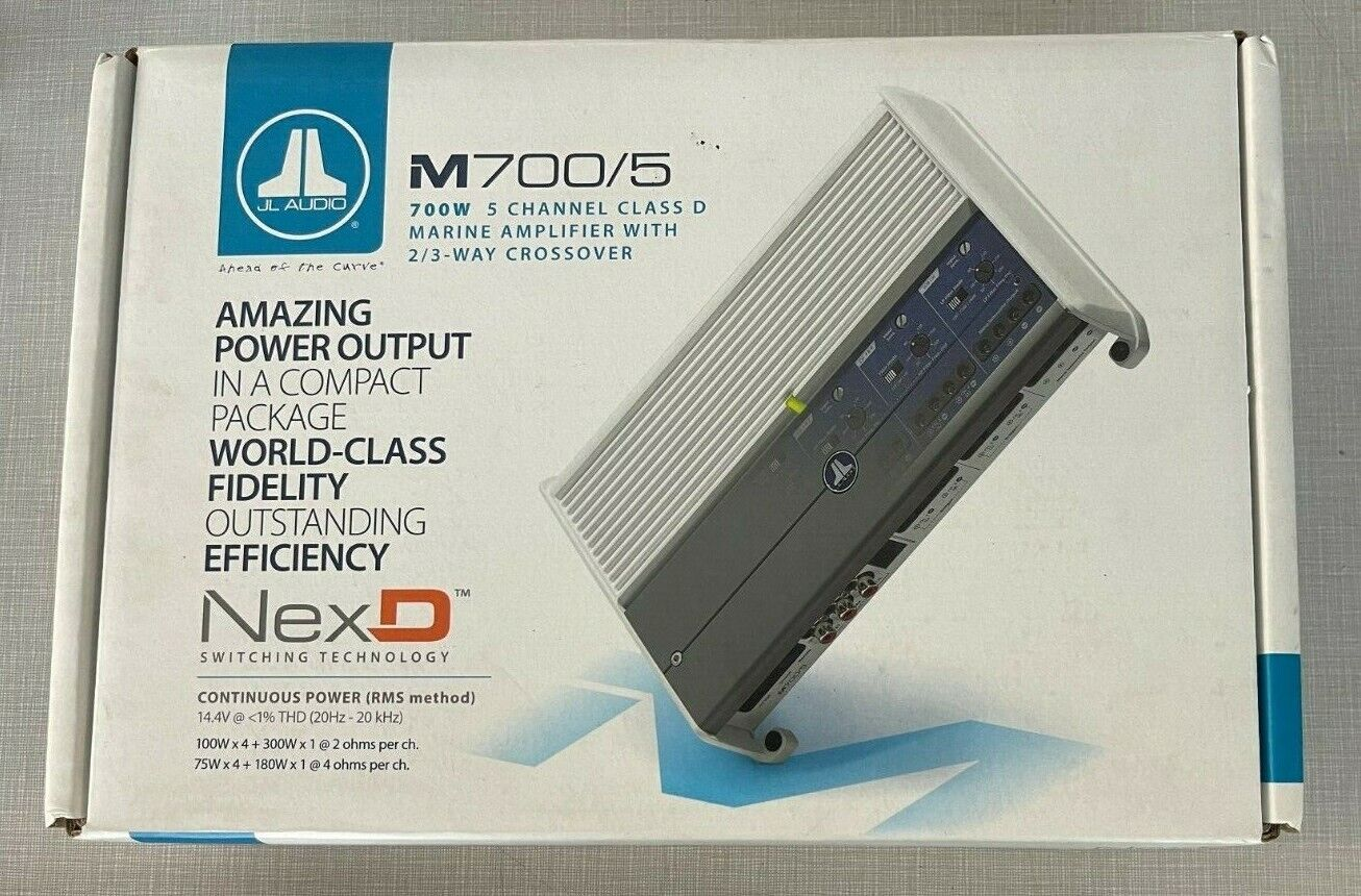 JL Audio M700/5 5-Channel Class D 700W Marine System Amplifier - $650.00