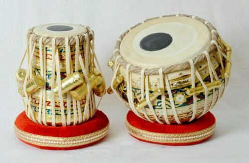 Professional Musical Instrument High Quality Wooden Meenakari Work Tabla Set