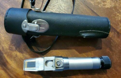 Vintage Made in Japan National Brand Pocket Handheld Refractometer with Case