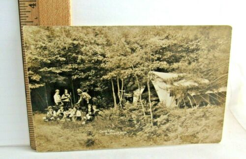 Girl Scout Camp Caho, Northport MI NEW POSTCARD 1918 Uniform CHRISTMAS GIFT