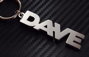 Dave-nombre-personalizado-llavero-a-medida-Acero-Inoxidable-Regalo