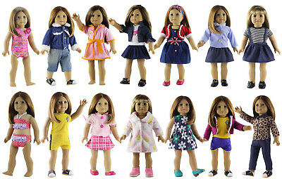 New Style Clothes For Girls (5 Set New Style Doll Clothes FOR 18'' inch American Girl Handmade Doll Dress)