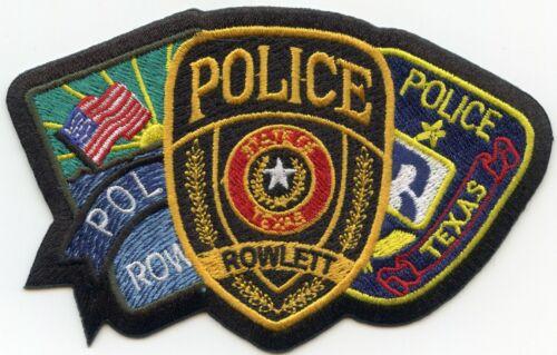 ROWLETT TEXAS TX unusual shape POLICE PATCH