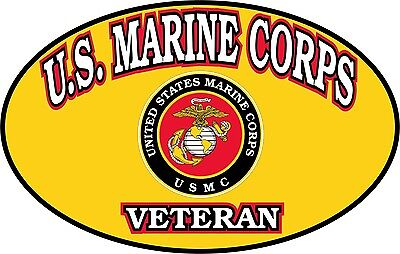 United States Marine Corps Veteran Window Decal Bumper Sticker USMC