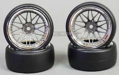 1//10 RC Metal RIMS 7 Star DRIFT WHEELS Rim Lightweight 52x26 MM Titanium 4PCS