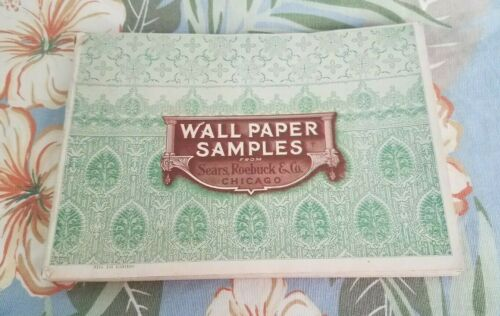Rare Vintage 1907 Sears & Roebuck & Co CHICAGO Wallpaper Samples Catalog Book
