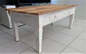 Vintage Wooden Designed Coffee Table