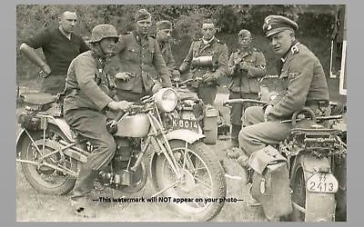 German Motorcycle Troops PHOTO SS Wehrmacht Soldiers World War 2, WW2