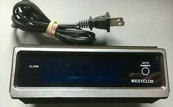 DAMAGED Vintage 1983 Westclox Digital Alarm Clock Retro Wood Grain Model# 22650