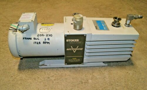 Baldor VL3507 1 phase Electric Motor / Stokes MicroVane Vacuum Pump 009-2