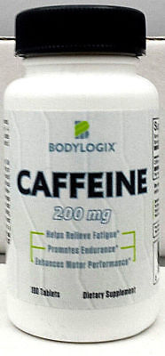 Bodylogix Caffeine Tablets/pills *200mg*100 TABS*Energy all day*FREE SHIPPING