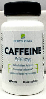 Bodylogix Caffeine Tablets/pills *200mg*100 TABS*Energy all day*FREE SHIPPING (Caffeine Free)