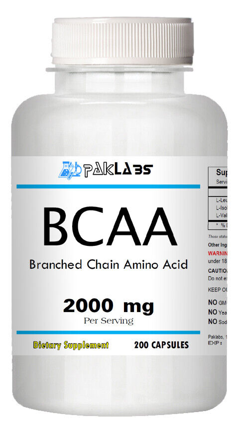 BCAA 2000 Mg Serving, 200 Capsules. Huge Bottle. Great Price. SALE - $17.99