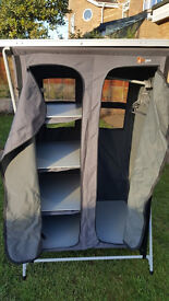 HI GEAR Elite 4 Shelf Wardrobe used only once but very good condition