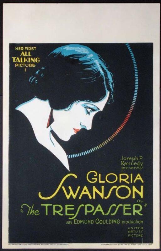 THE TRESPASSER GLORIA SWANSON 1929 WC PB