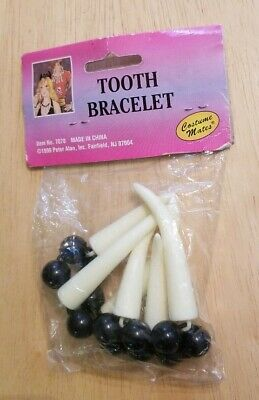 1999 Tooth Bracelet Peter Alan Costume Mates Cannibal Pirate Caveman Halloween