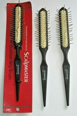 SCALPMASTER STEEL PIN WIG BRUSH SC 27 3/PACK  WITH TAGS  FREE SHIPPING Free Wig Brush