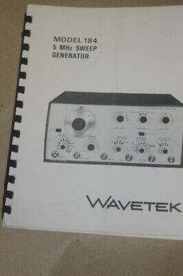 Wavetek 184 5 Mhz Sweep Generator Operation Instruction Manual