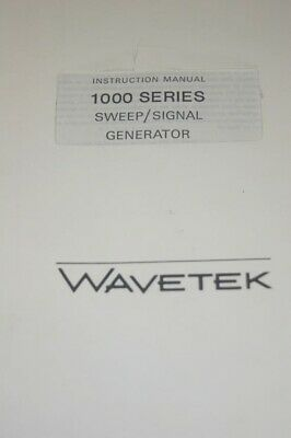 Wavetek 1000 Series Sweep Signal Generator Instruction Operating Manual