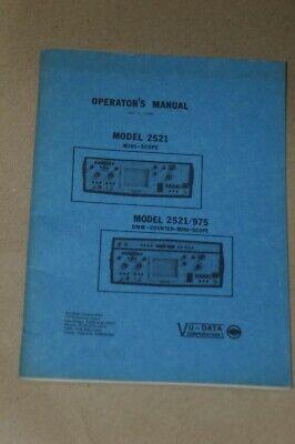 Valhalla Scientific 2521975 Mini-scopedmm Counter Operation Manual