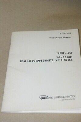 Data Precision 1350 3.5 Digit General Multimeter Instruction User Manual