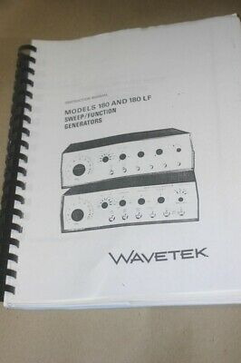 Wavetek 180180lf Sweep Function Generator Instruction Operating Manual