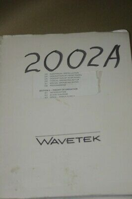 Wavetek 2002a Sweep Signal Generator Instruction Guide Manual