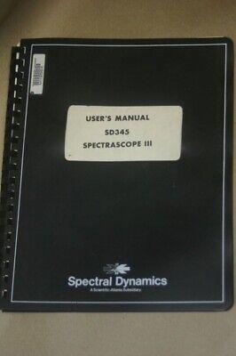 Spectral Dynamics Spectrascope Iii Sd345 Analyzer Instruction Manual
