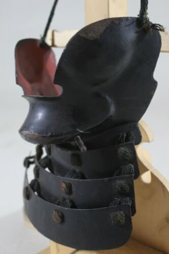 """HANPO (mask) of YOROI (armor) : EDO : 7.5 × 7.1 × 3.1 """"  240g"""