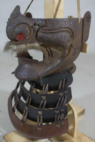 """TETSUSABIJI MENPO (mask) of YOROI (armor) : EDO : 11 × 6.7 × 4.7 """" 410g"""