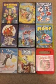 9 dvd's kids movies.