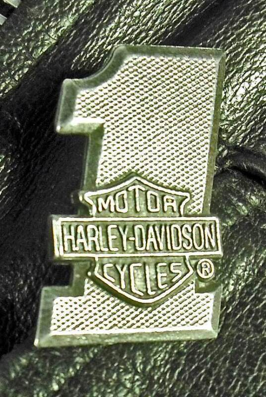 #1 Bar & Shield Harley-Davidson Motorcycle Harley Pewter Biker Jacket pin 1001