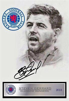 Glasgow Rangers fc  Steven Gerrard  A4 photo art print free postage  #2