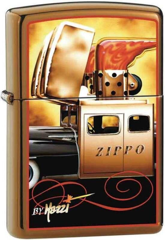 Zippo Claudio Mazzi Brushed Brass Zippo Car Windproof Lighter RARE