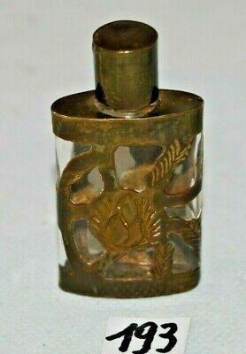 C193 Ancienne fiole - mini gourde - métal ajouré